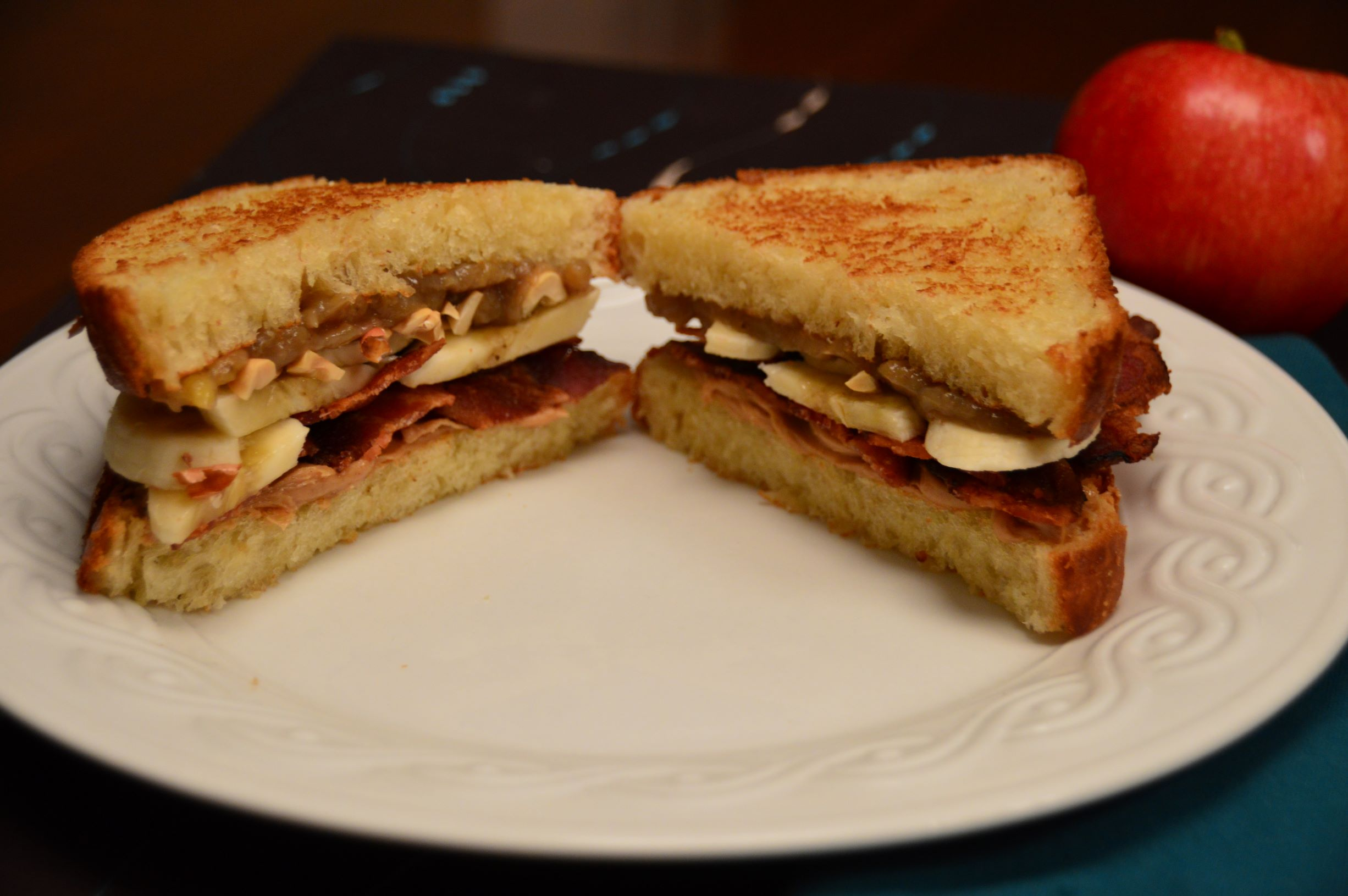 Elevated Elvis Pbbb Peanut Butter Bacon Banana Brioche Sandwich